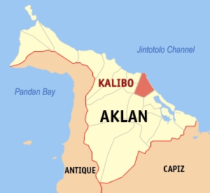 Location of Kalibo in Aklan Province