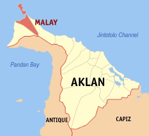 Location of Malay in Aklan Province