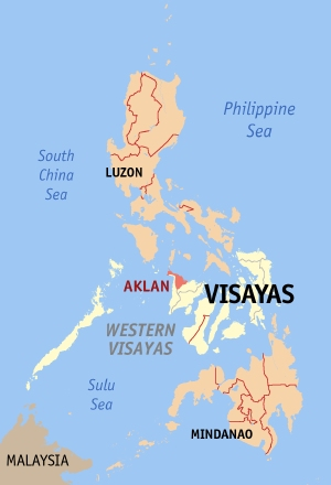 Location of Aklan in the Philippines