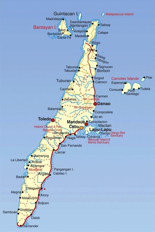 Cebu Location Maps