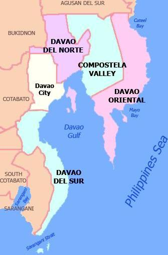 Davao location maps provincial map of davao region gumiabroncs Choice Image