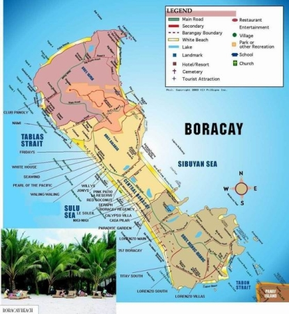 Map of Boracay Island Resorts